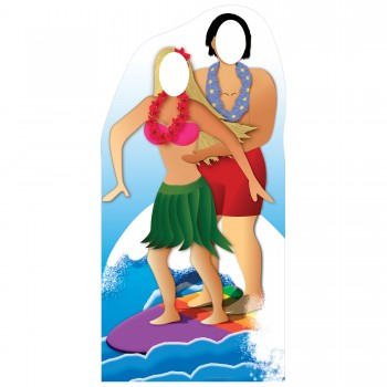 Surfer Couple Stand In Cardboard Cutout - $44.95