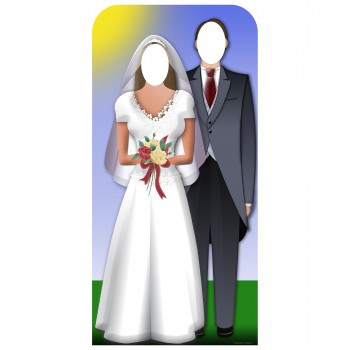 Wedding Couple Stand In Cardboard Cutout - $44.95