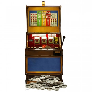 Fruit Machine 1 Armed Bandit Cardboard Cutout - $44.95