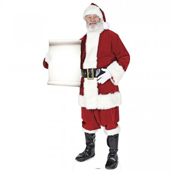 Santa with Small Sign Cardboard Cutout - $44.95