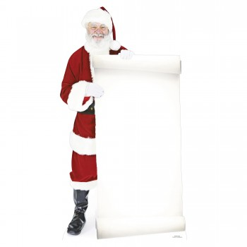 Santa w Large Sign Board Cardboard Cutout - $44.95