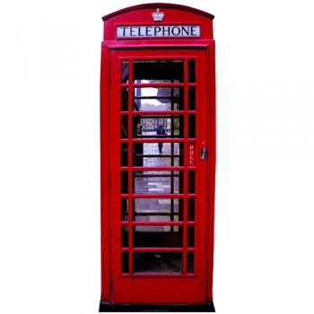 English Phone Booth Cardboard Cutout - $44.95