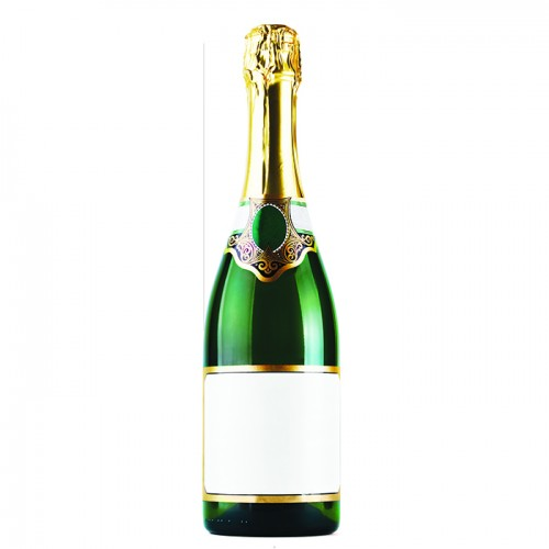 Bottle of Champagne Cardboard Cutout