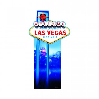 Vegas Sign Cardboard Cutout