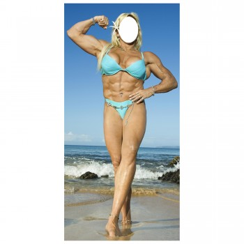Muscle Woman Stand In Cardboard Cutout - $44.95