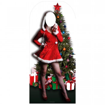 Mrs Chrsitmas Stand In Cardboard Cutout - $44.95