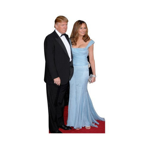 President Donald and Melania Trump Cardboard Cutout