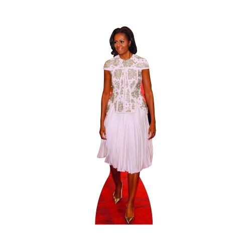 First Lady Michelle Obama Dress Cardboard Cutout