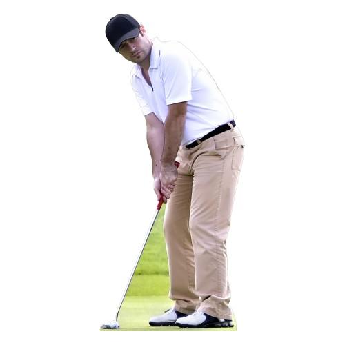 Golf Player Putting Cardboard Cutout