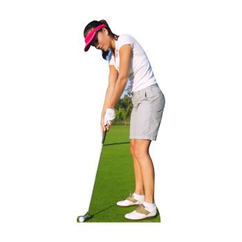 Woman Golfer Cardboard Cutout