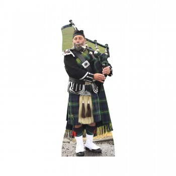 Scottish Bag Piper Cardboard Cutout