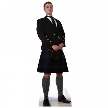 Scottish Man In Kilt Cardboard Cutout