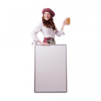 Scottish Woman with Sign Board Cardboard Cutout