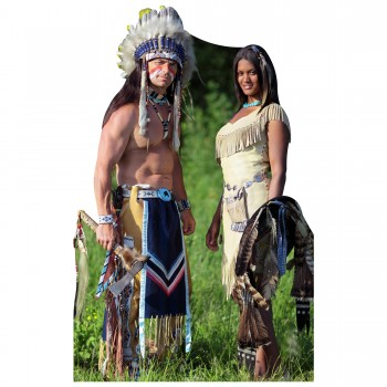 Native American Couple Cardboard Cutout