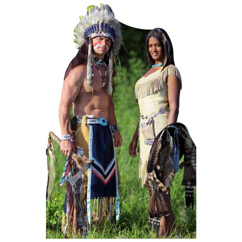 Life Size Native American Couple Cardboard Cutout 44 95 Free Shipping Great For Parties And Events