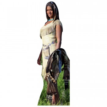 Indian Woman Cardboard Cutout