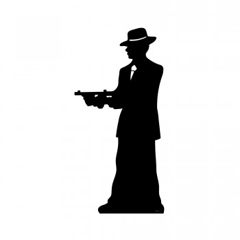 Gangster Silhouette Single Cardboard Cutout - $44.95