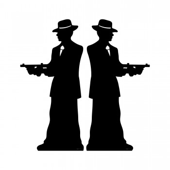 Gangster Silhouette Double Pack Cardboard Cutout - $44.95