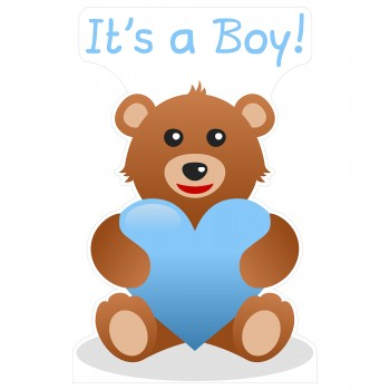 Its a Boy Teddy Bear Cardboard Cutout - $44.95
