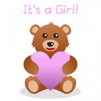 Its a Girl Teddy Bear Cardboard Cutout - $44.95
