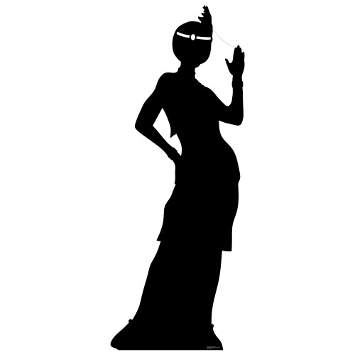 Flapper Girl silhouette Cardboard Cutout