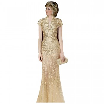 Princess Diana Gold Cardboard Cutout - $44.95