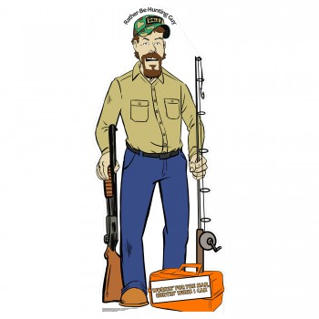 Dale Fish & Stream Outdoors Lifestyle Comic Cardboard Cutout