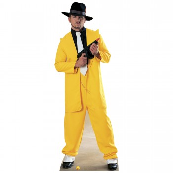 Gangster Yellow Cardboard Cutout