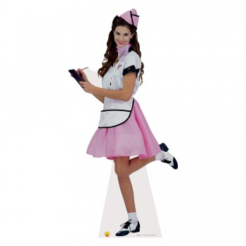 Soda Pop Girl Cardboard Cutout