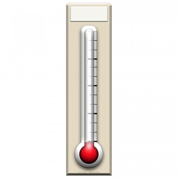 Fundraising Thermometer Cardboard Cutout