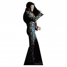 Elvis Black Jumpsuit Cardboard Cutout