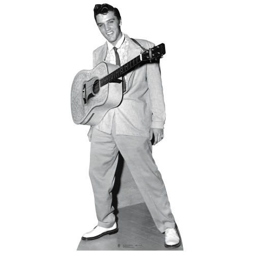 Elvis w Guitar around neck Cardboard Cutout