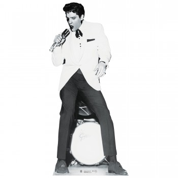 Elvis White Jacket w Drums Cardboard Cutout - $44.95