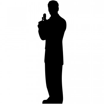 Secret Agent Male Silhouette Single Pack Cardboard Cutout - $44.95