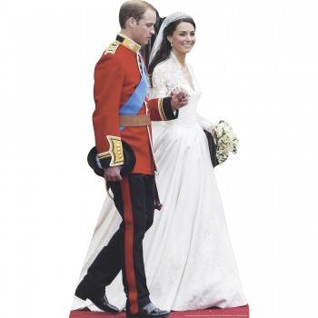 William and Kate Wedding Cardboard Cutout