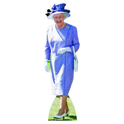 Queen Elizabeth Lilac Dress Cardboard Cutout