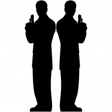 Secret Agent Male Silhouette Double Pack