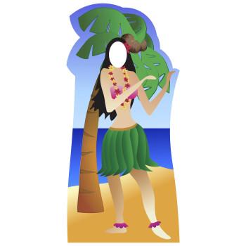 Hula Girl Cardboard Cutout