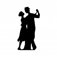 Salsa Dancer Silhouette