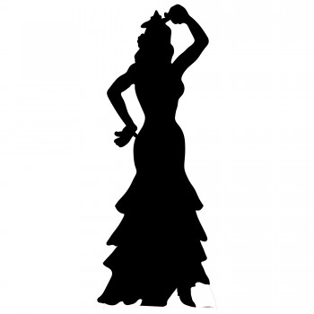 Flamenco Dancer Silhouette Cardboard Cutout - $44.95