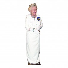 Queen Elizabeth Wearing Crown Cardboard Cutout