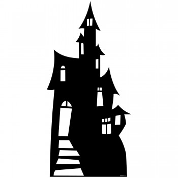 Haunted House Silhouette Cardboard Cutout - $44.95