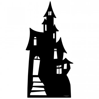 Small Haunted House Silhouette Cardboard Cutout - $44.95
