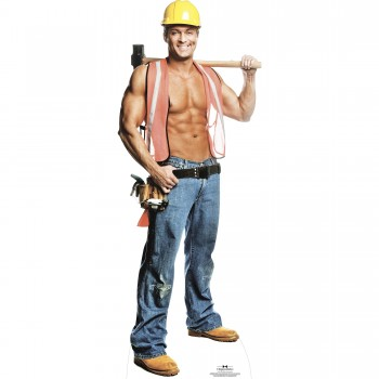 Billy Jeffrey Construction Worker Cardboard Cutout