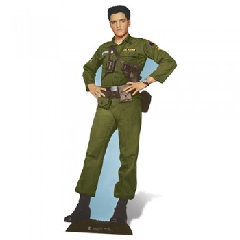 Elvis Army Days Cardboard Cutout - $44.95