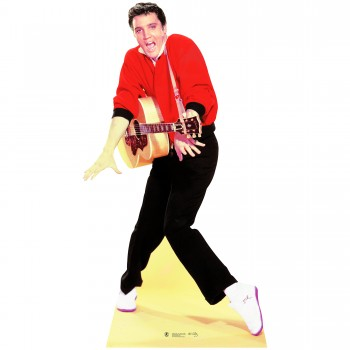Elvis Red Jacket Guitar Cardboard Cutout - $44.95