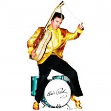 Elvis Gold Jacket and Drums Cardboard Cutout