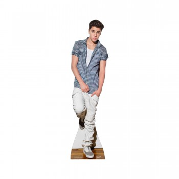 Justin Bieber Checked Shirt Cardboard Cutout