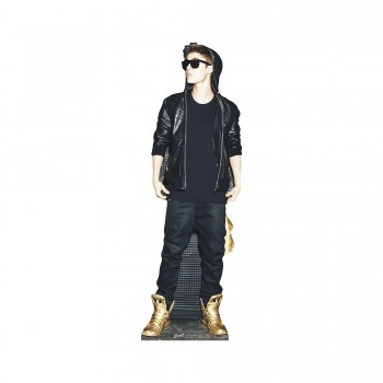 Justin Bieber Gold Shoes Cardboard Cutout