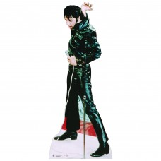 Elvis Black Leather Cardboard Cutout